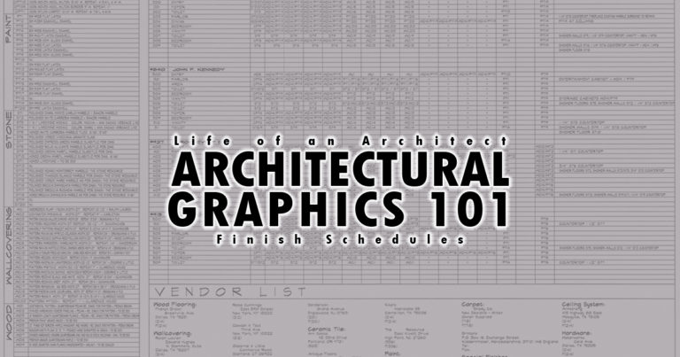 Architectural Graphics 101: Finish Schedules