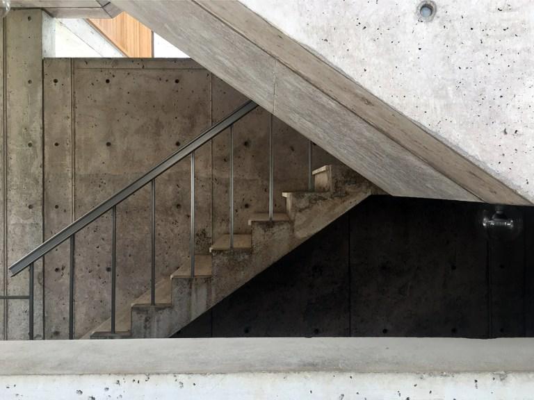 The Salk Institute concrete stairs