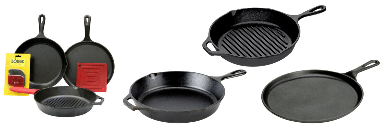 6 piece cast iron skillet set what to get an architect for christmas 2017
