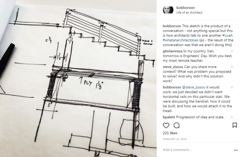Bob Borson Instagram - How Architects Communicate - Sketch 01