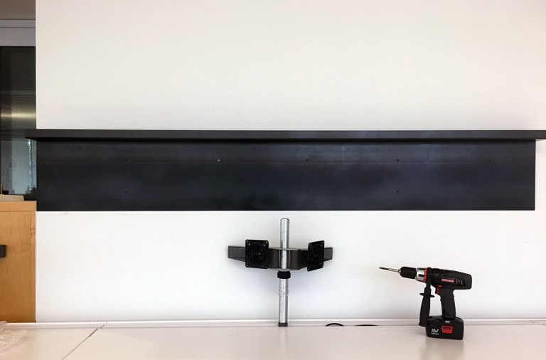 Metal Shelf - installation of the first piece 03