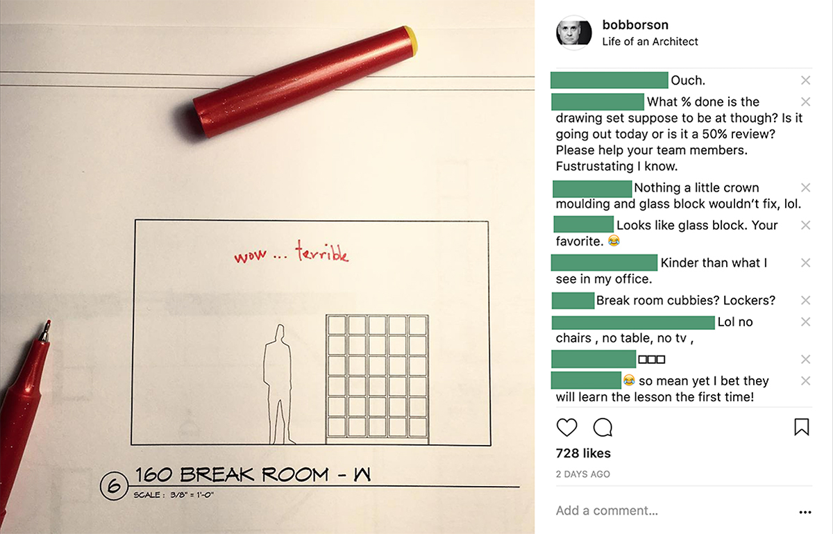 Creating Architectural Redlines - Design Comments from Instagram
