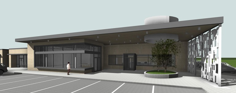 Medical Retail building - front entryway
