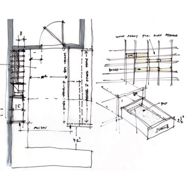 Sketch Study 002 oculus theater detail - sketch by Bob Borson