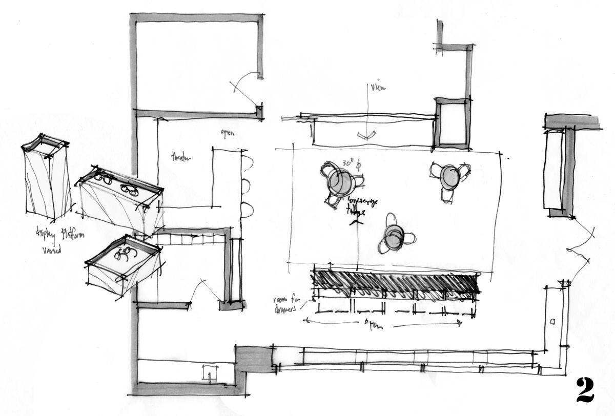 Sketch Study 002 modified concept - sketch by Bob Borson