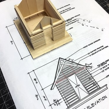 Japanese Playhouse Model - the shell