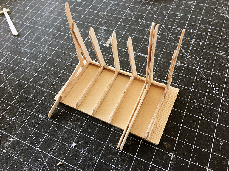 Japanese Playhouse Model - roof rafters