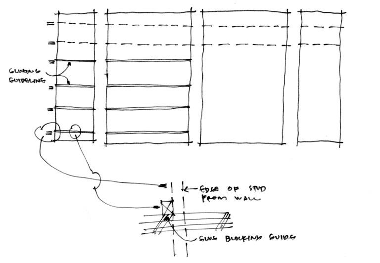 Playhouse Model Sketch - Rafter diagram