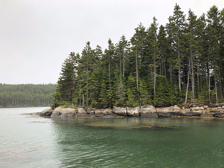 Maine - View from the rock - photo by Bob Borson