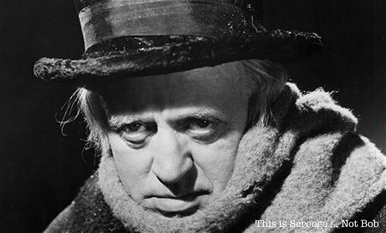 This is Ebenezer Scrooge, not Bob Borson