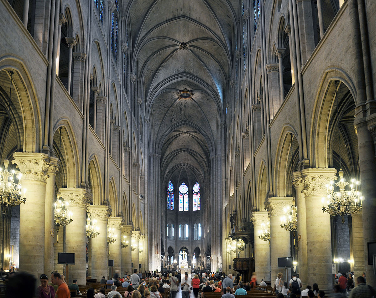 Notre Dame Cathedral Interior 01 June 2010 photo by Bob Borson