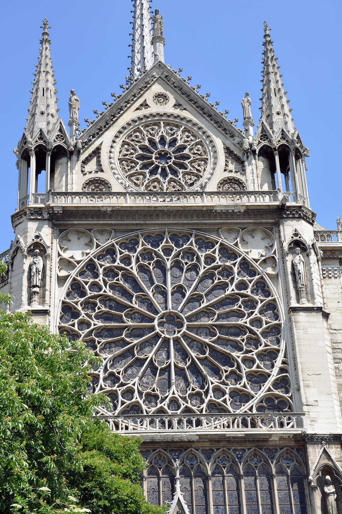 Notre Dame Cathedral rose window detail June 2010 photo by Bob Borson