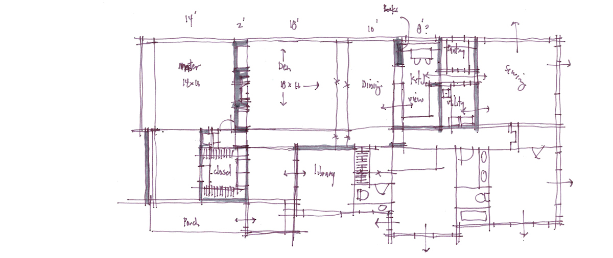 Architectural Sketch Series Schematic Design 01 by Bob Borson