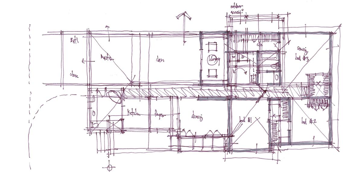 Architectural Sketch Series Schematic Design 04 by Bob Borson