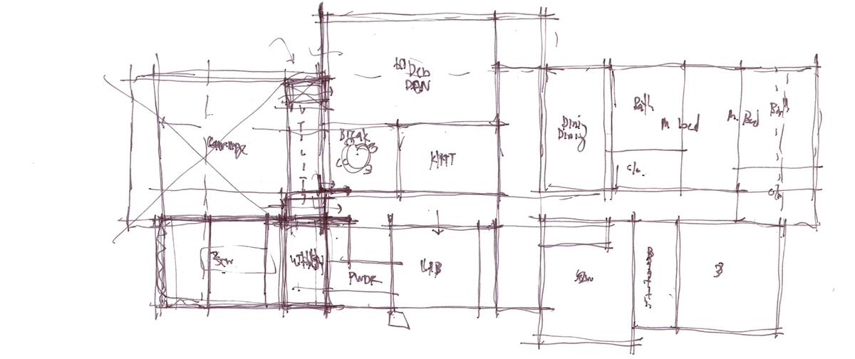Architectural Sketch Series Schematic Design 08 by Bob Borson