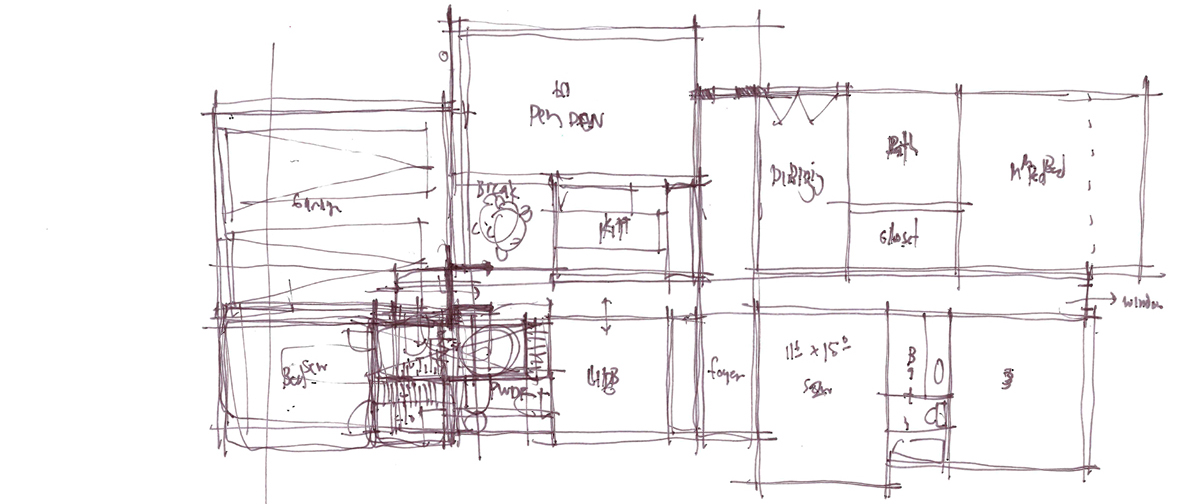 Architectural Sketch Series Schematic Design 09 by Bob Borson