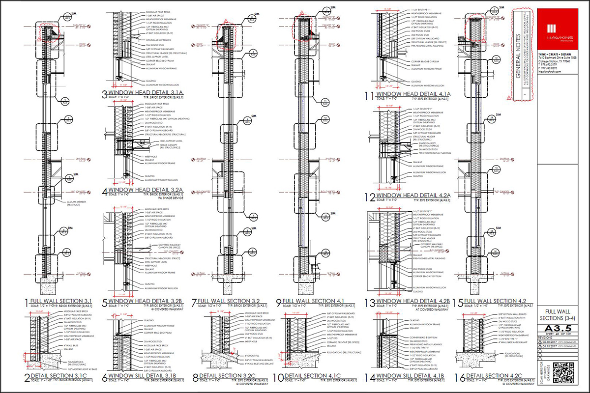 Hawkins Architecture Drawing Sheet
