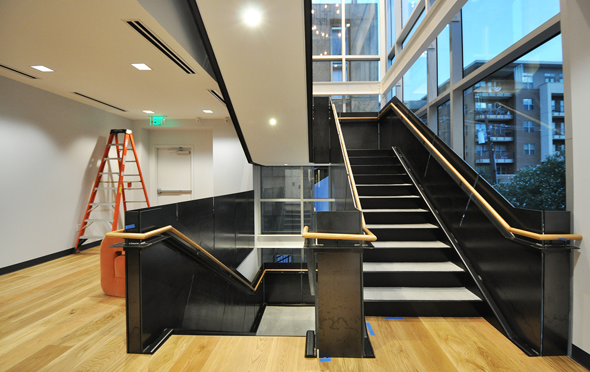 Work214 Steel Stairs finished Second level 02