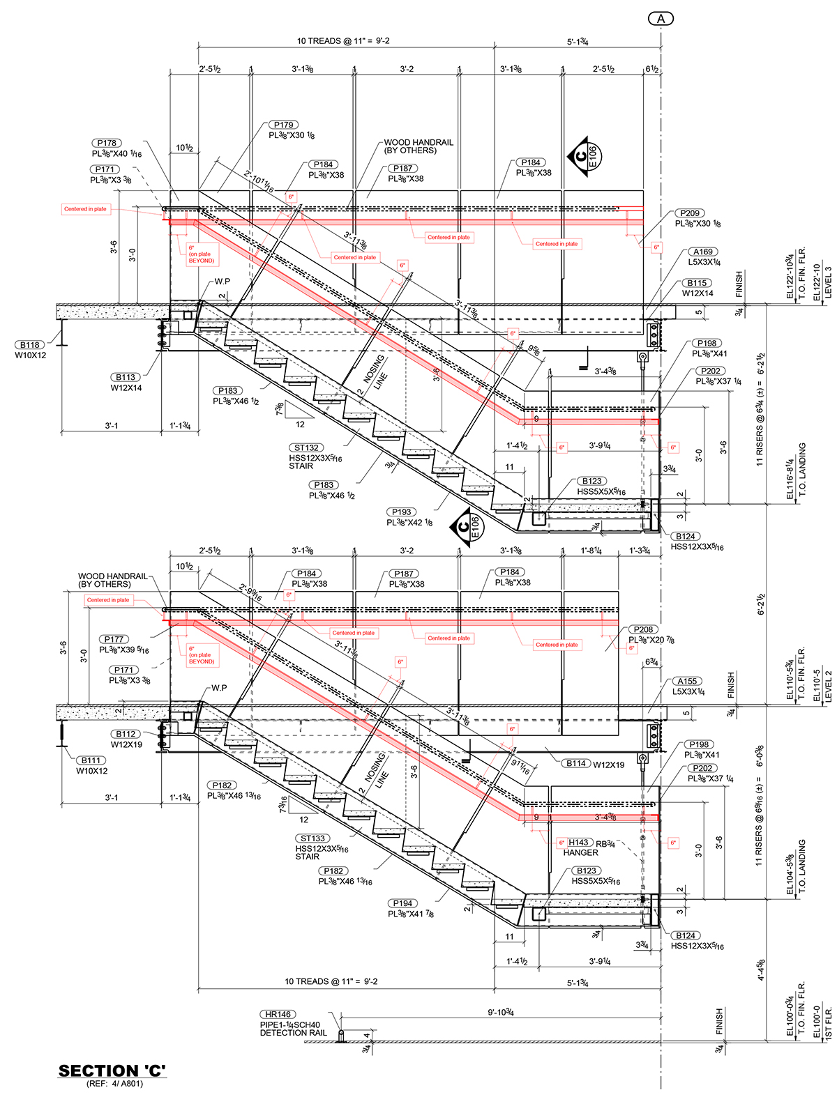 Work214 Stair Handrail Shop Drawings