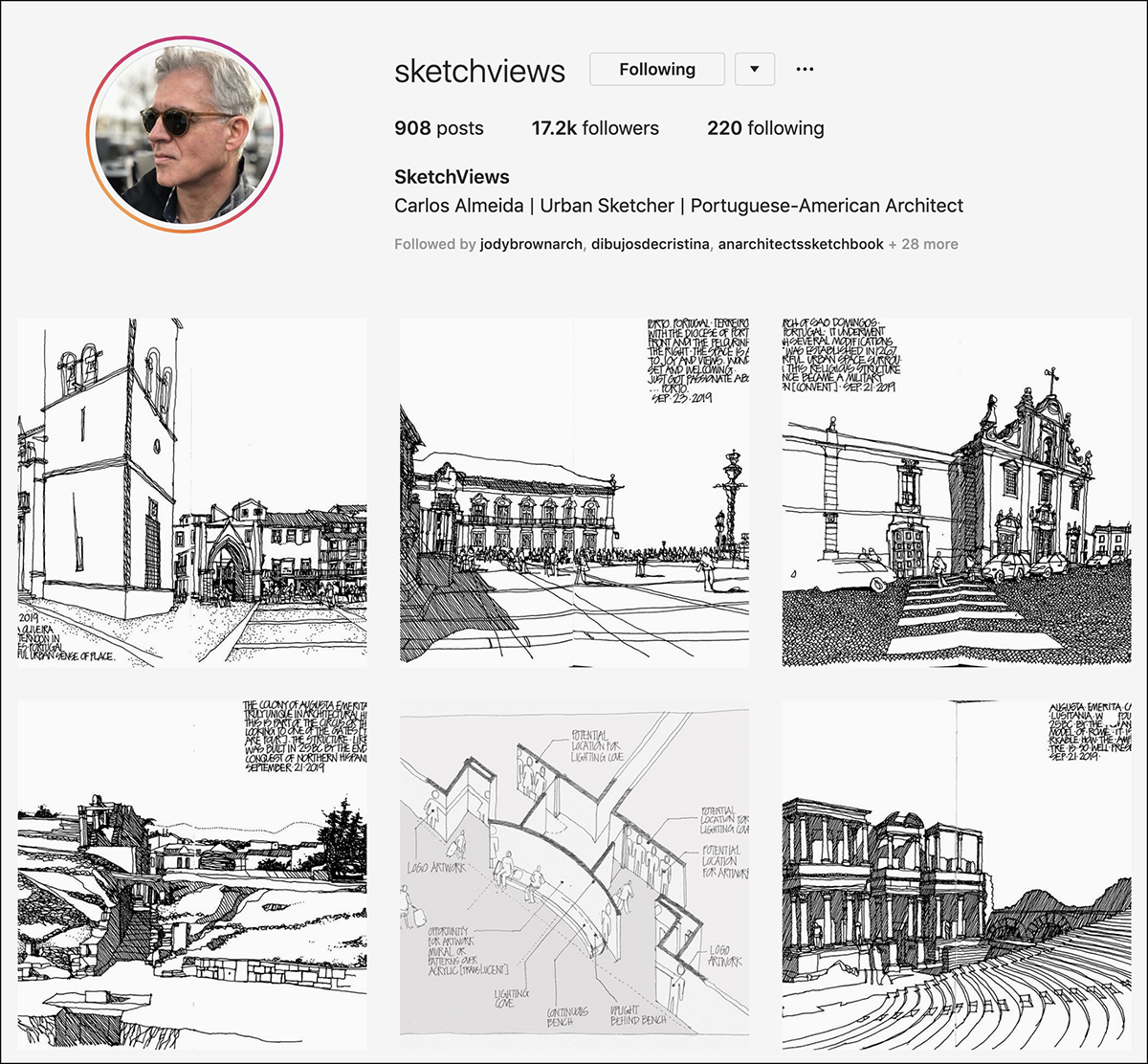 sketchviews Instagram Account - good for sketching