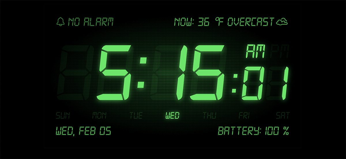 getting to work early - digital clock face