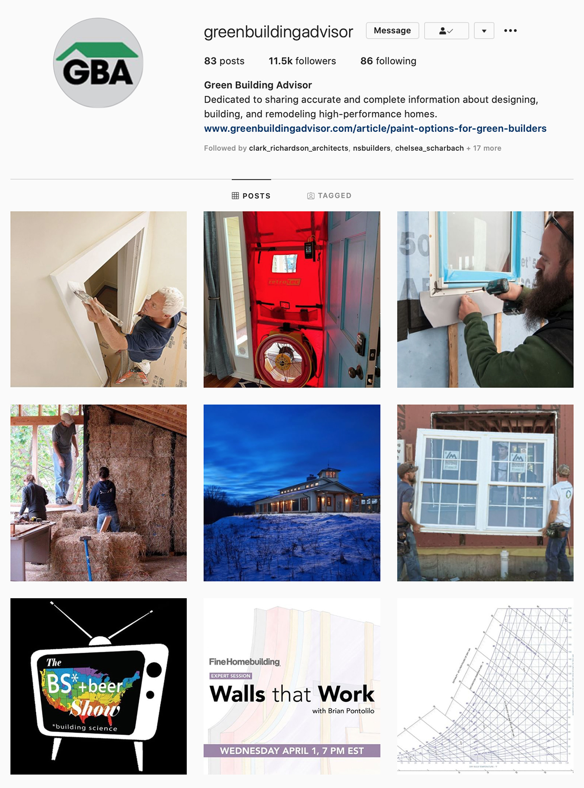 Best Construction Instagram Accounts Green Building Advisor