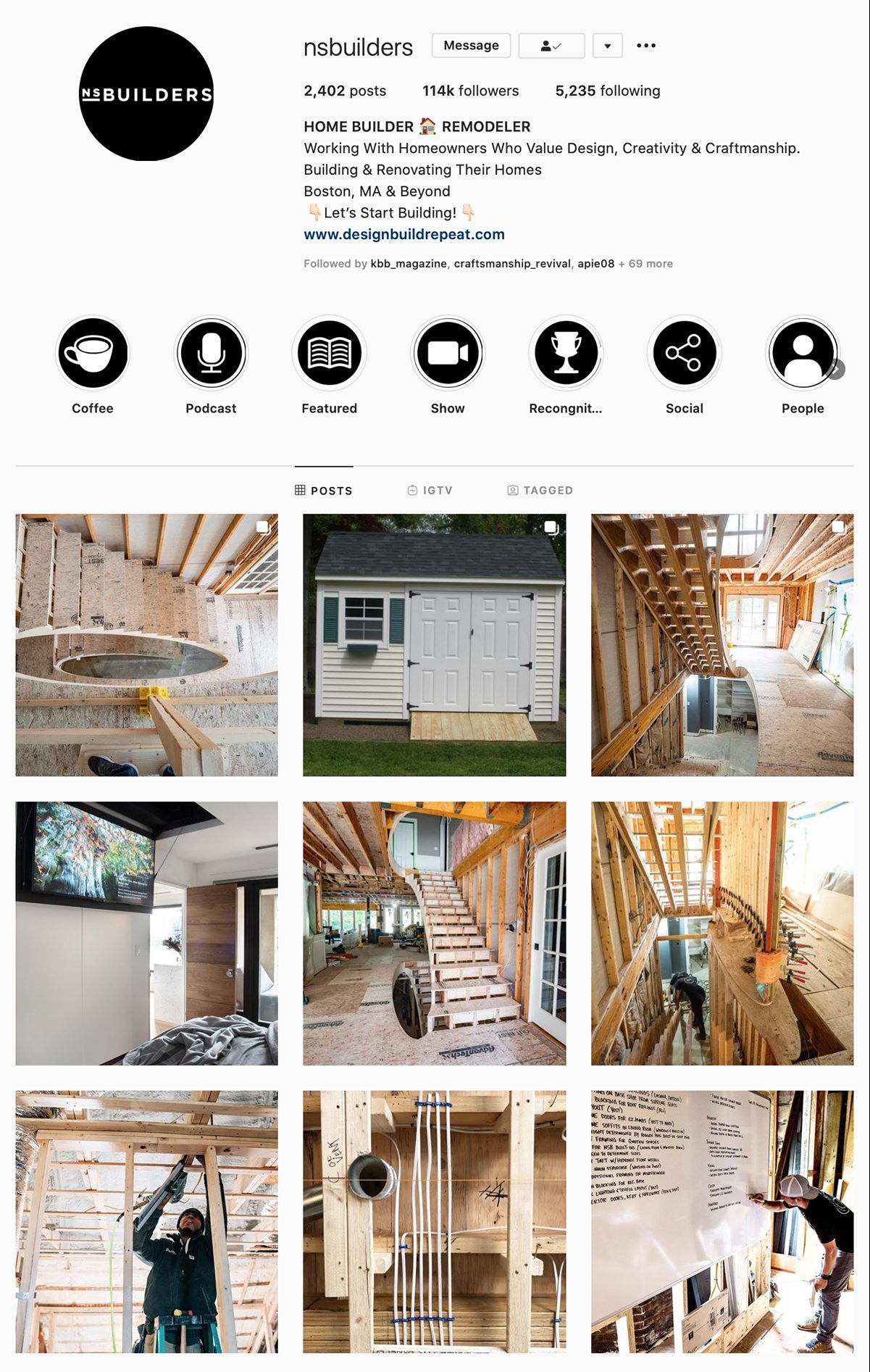 Best Construction Instagram Accounts NS Builders