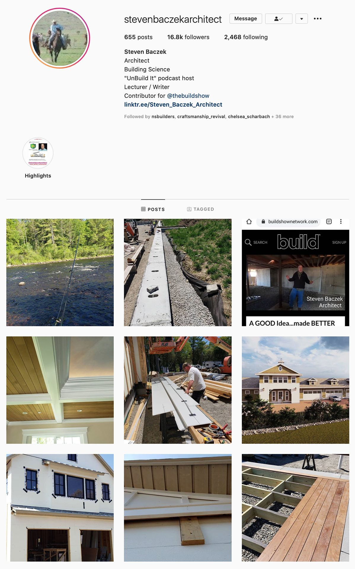 Best Construction Instagram Accounts Steven Baczek Architect