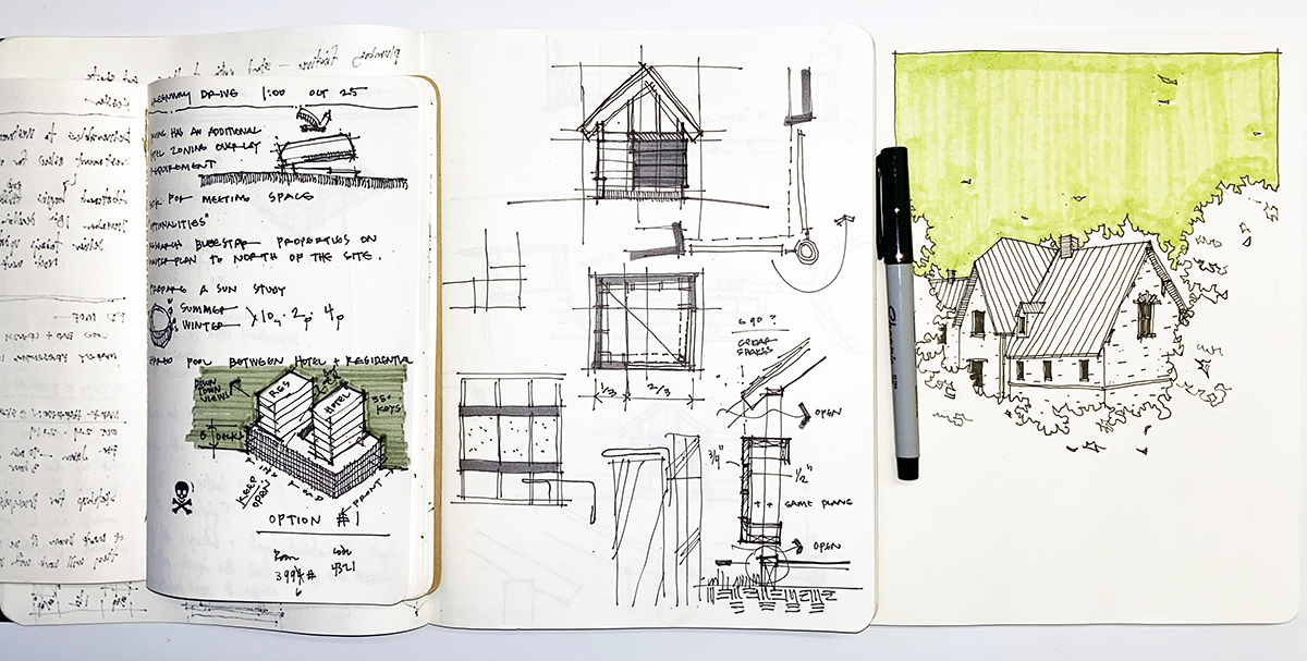 Dallas Architect Bob Borson - Sketchbooks June 2020