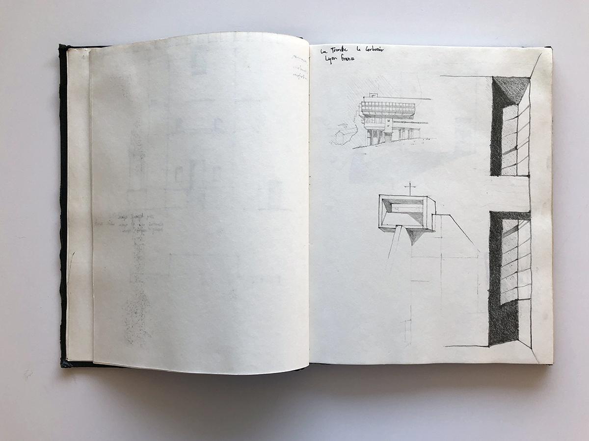 Bob Borson - travel sketches from college 01