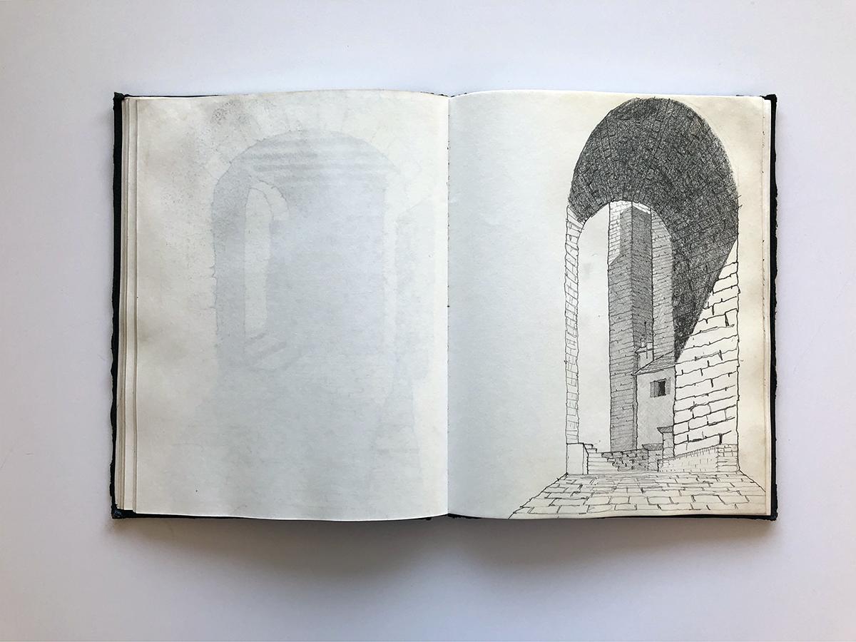 Bob Borson - travel sketches from college 03