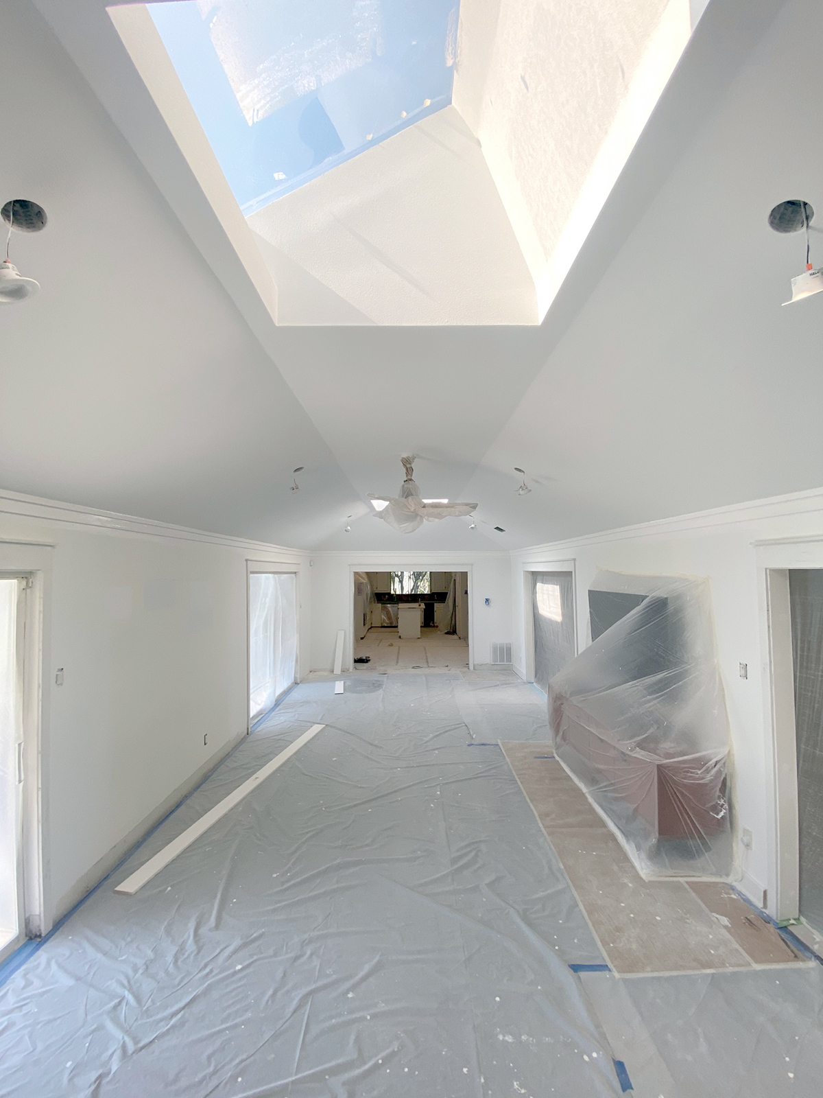 Living Room - ceiling completed