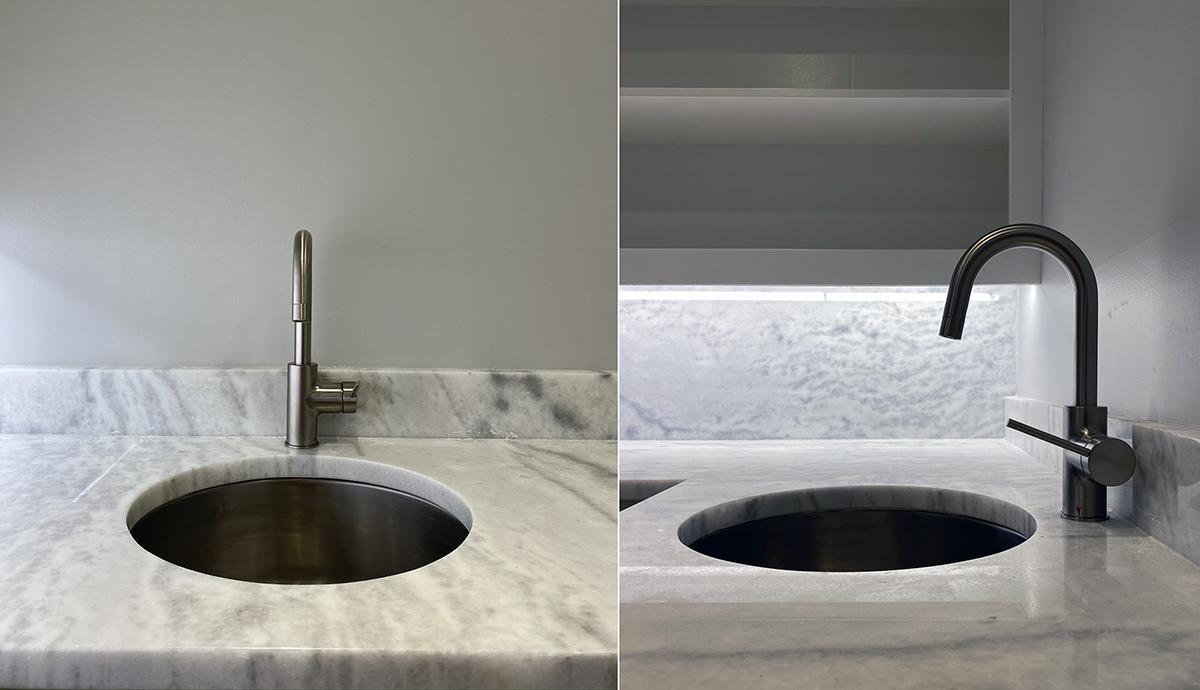 Bar Renovation - circular sink and faucet