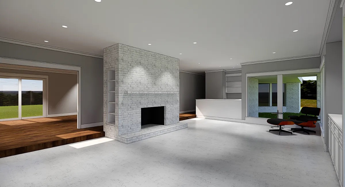 Built Fireplace rendering 01