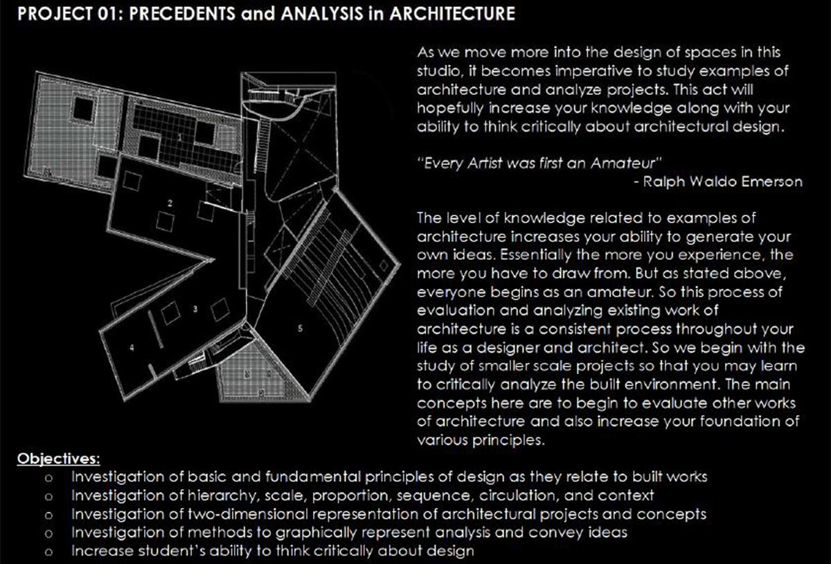 Architectural Precedents - Assignment Intro
