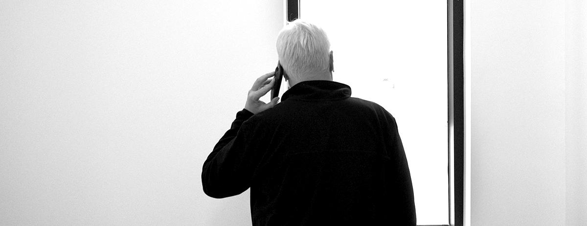 Bob Borson - taking calls on the job site