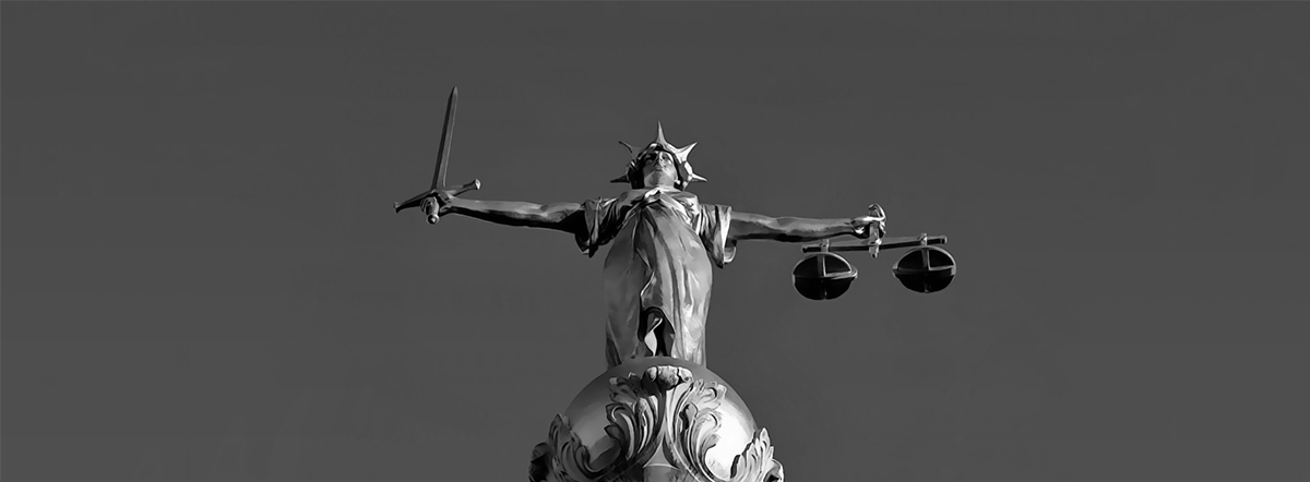Lady Justice is Blind London B&W