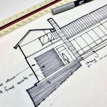 San Antonio Entry Sketch (by Bob Borson)