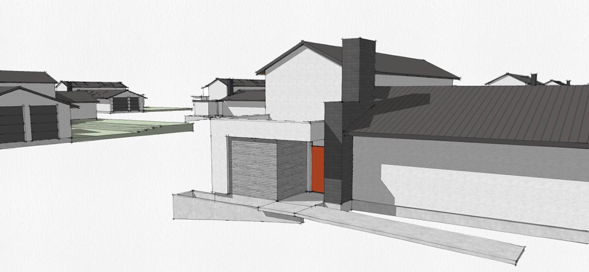 San Antonio Massing studies - The Front Door Experience
