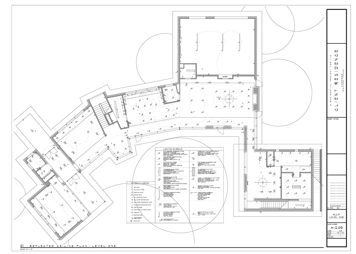Architectural RCP Plan example - Architectural Graphics 101 - Symbols