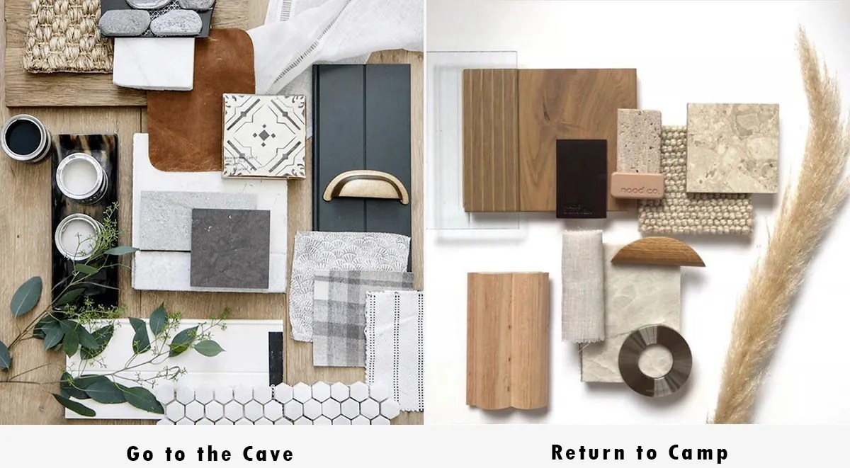 material palette choices - Go To the Cave ... or Return to Camp?