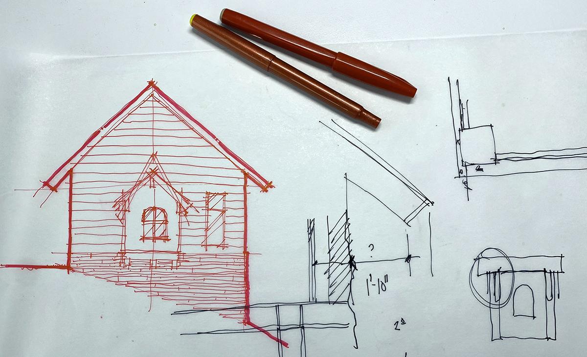 Creating Redlines by hand - Architectural Redlines : Ep 078: Redlines
