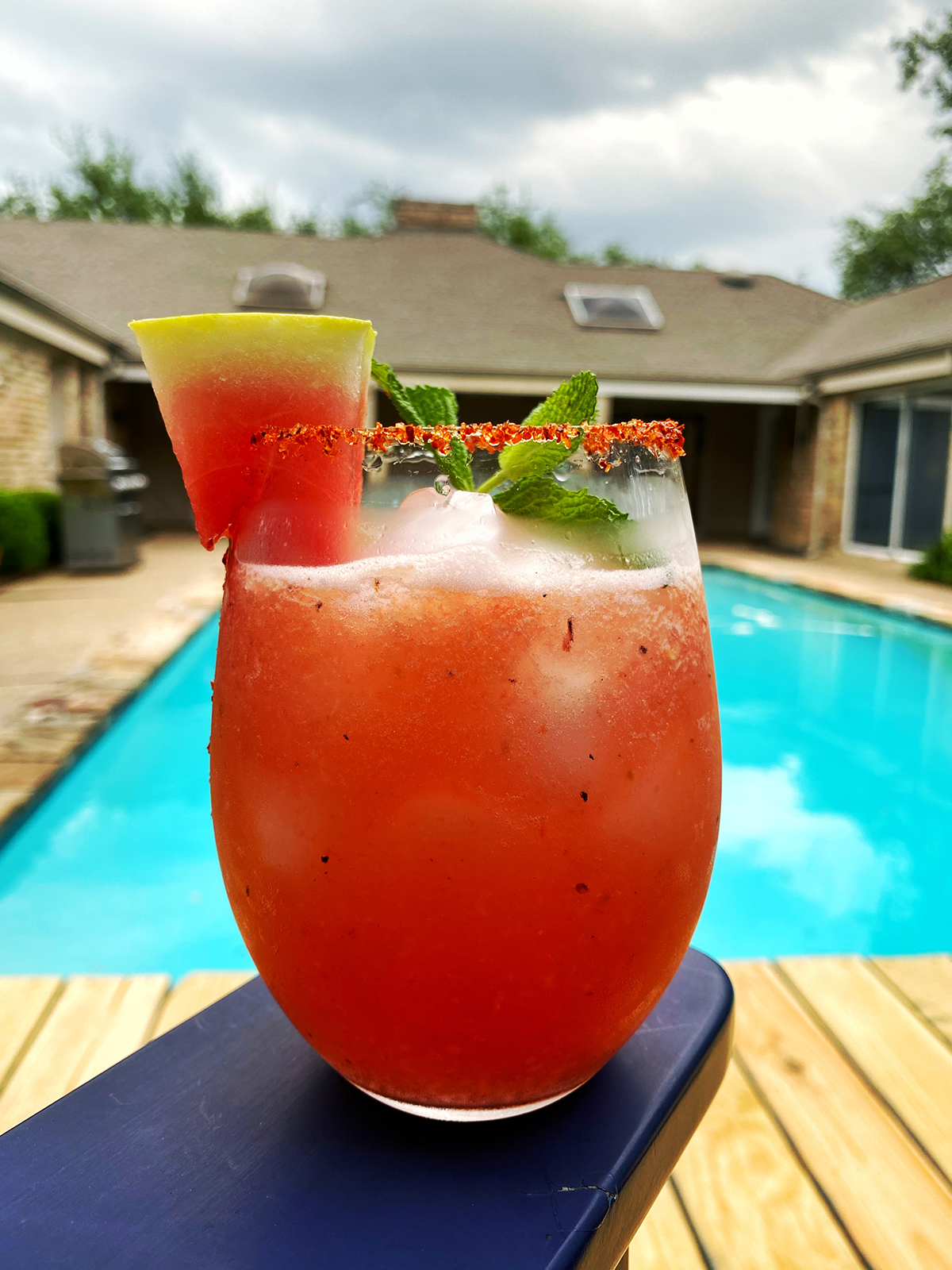 Borson Family Grilled Watermelon and Peach Margarita - Happy Hour at the Borson House