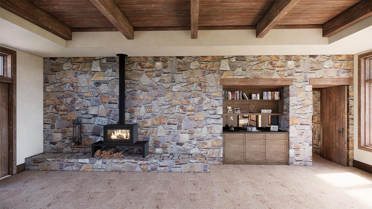 Master Bedroom - Stove Option - Renderings for Residential Design