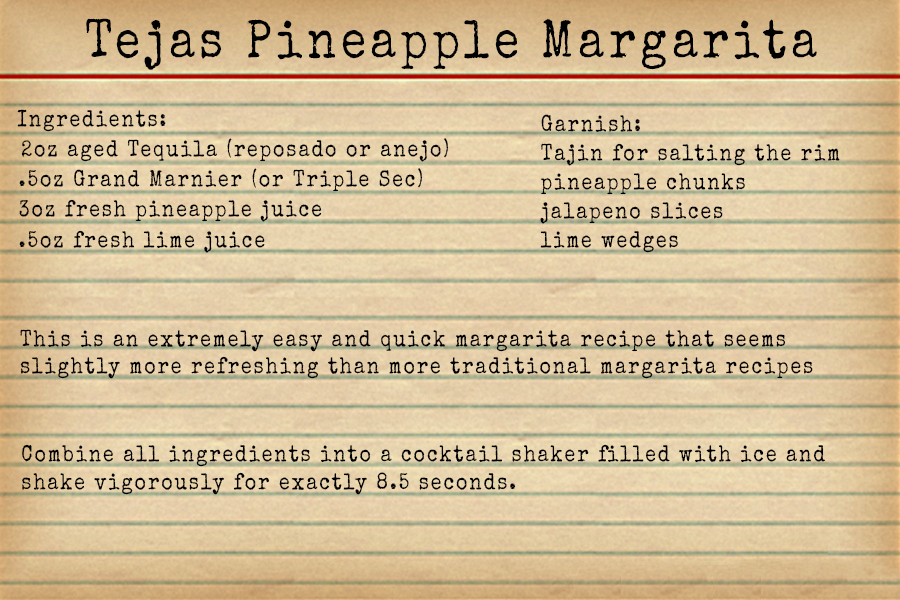 The Borson Family Tejas Pineapple Margarita Recipe - Happy Hour at the Borson House