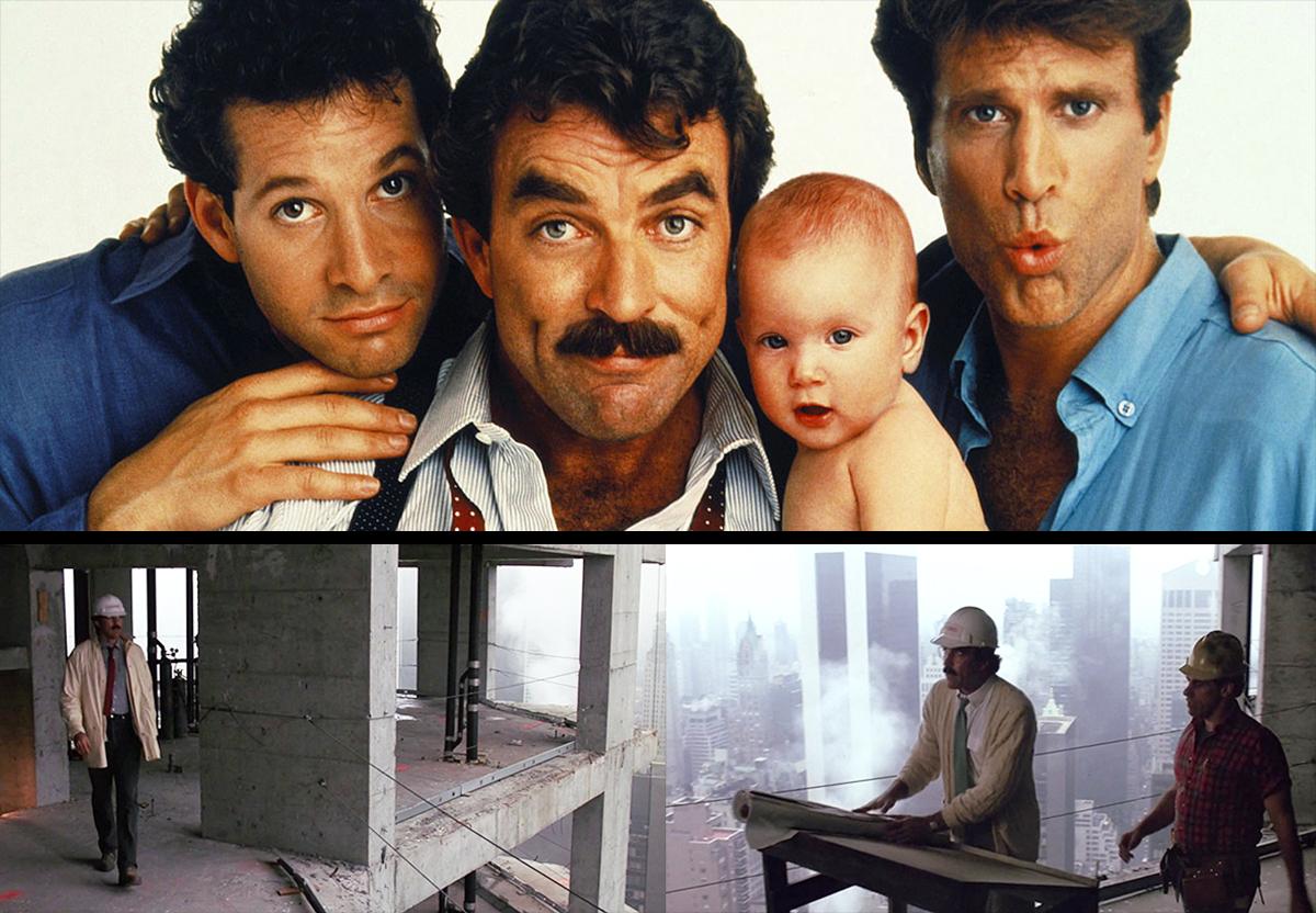 Three men and Baby on the jobsite