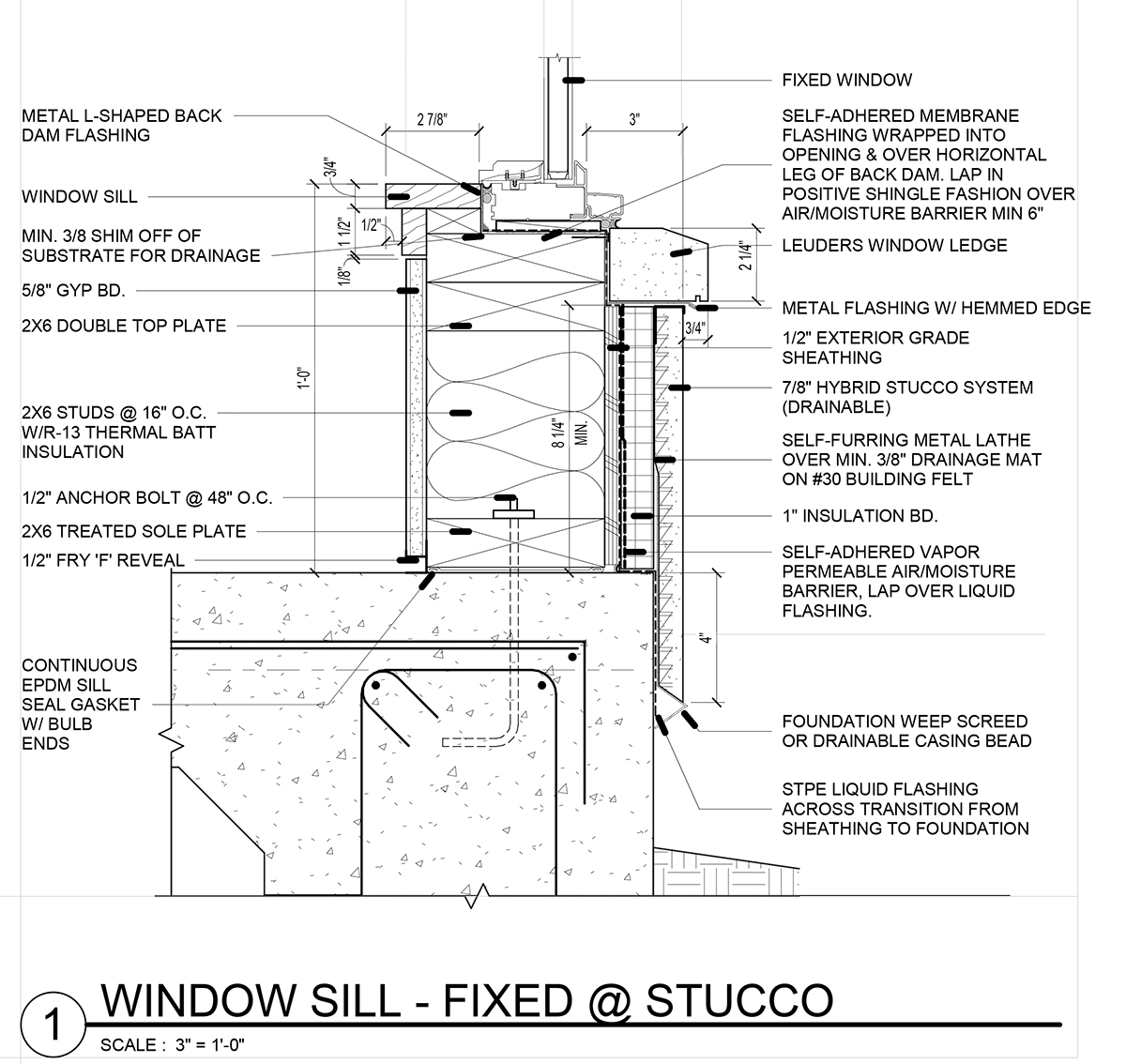 Window Detail and Project Specifications - Residential Architecture 101 - Specifications