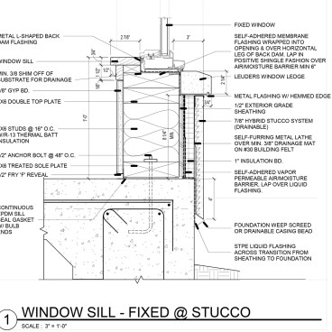 Window Detail and Project Specifications