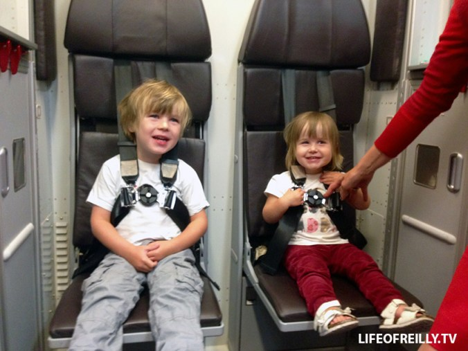 Dylan and Samantha ended up becoming cabin crew during a recent flight