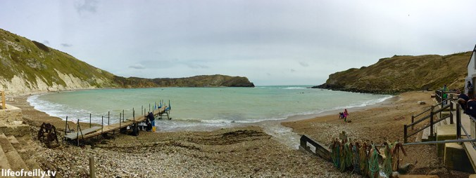 Panoramic view of Lulworth Cove